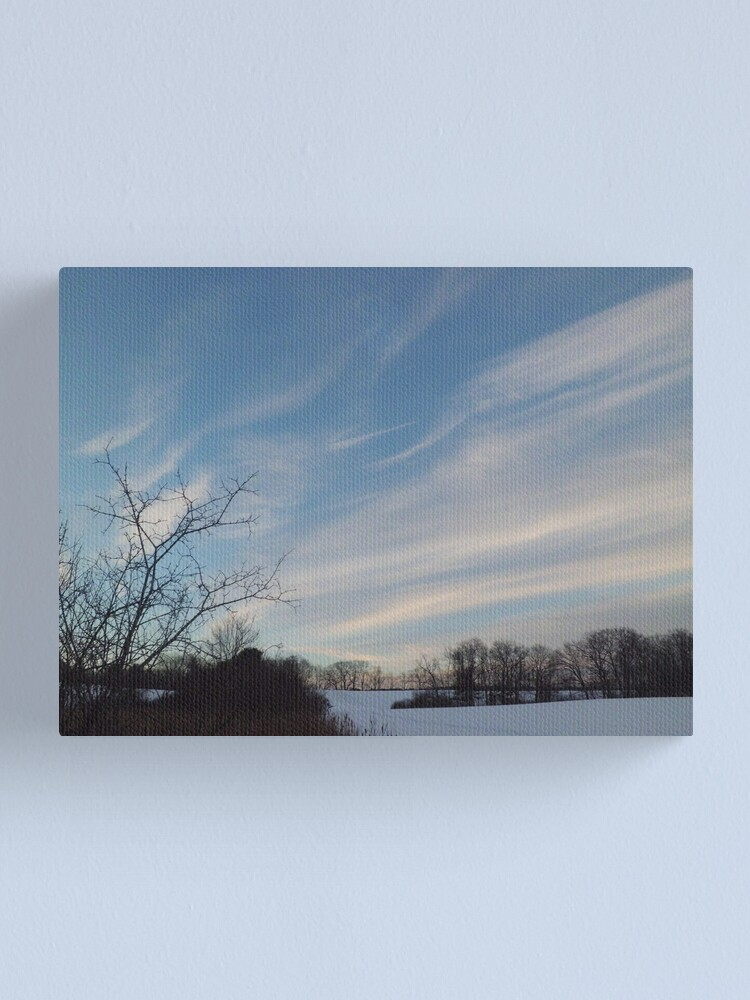 Alternate view of Winter - Evening Sky, Great Meadow Canvas Print