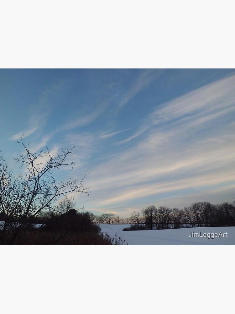 Winter - Evening Sky, Great Meadow by JimLeggeArt