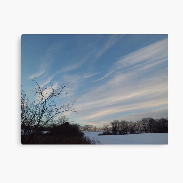 Winter - Evening Sky, Great Meadow Canvas Print