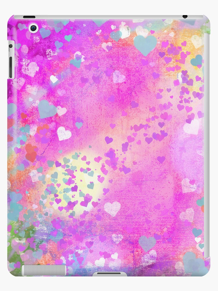 Grunge hearts abstract art I by Marianne Campolongo