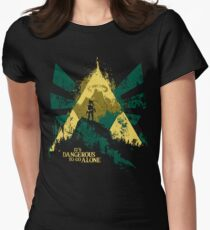 It's Dangerous To Go Alone Women's Fitted T-Shirt