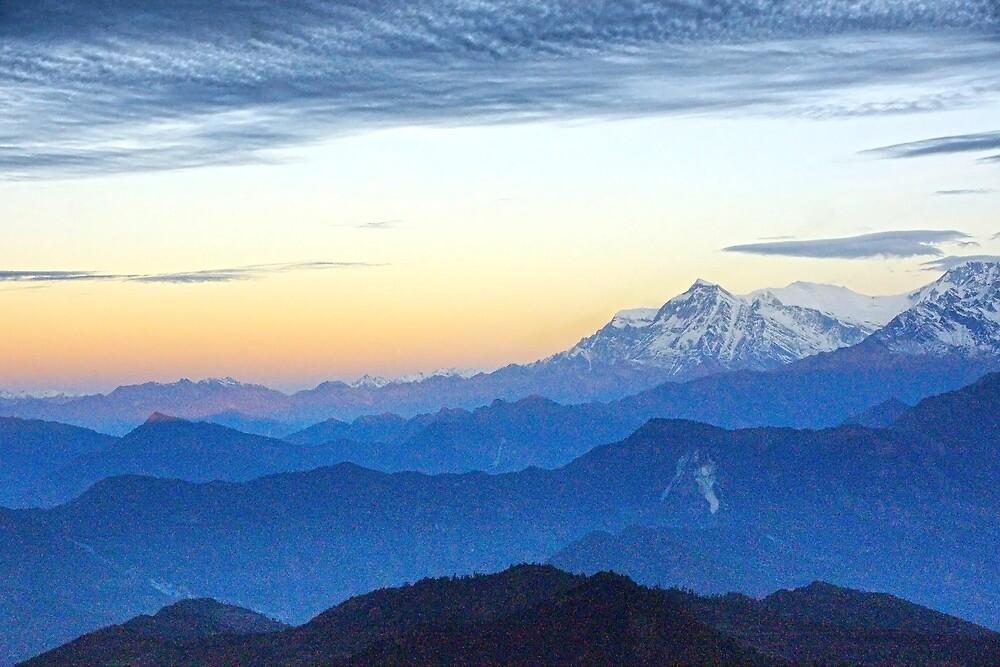 Himalayan Dawn I by Harry Oldmeadow