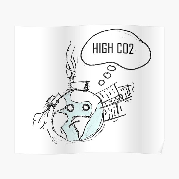 Hohes CO2 Poster