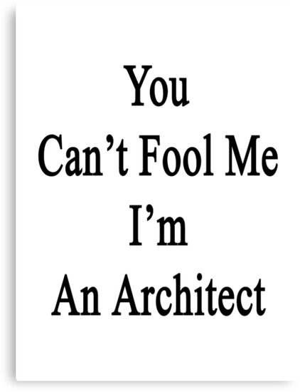 You Can't Fool Me I'm An Architect  by supernova23
