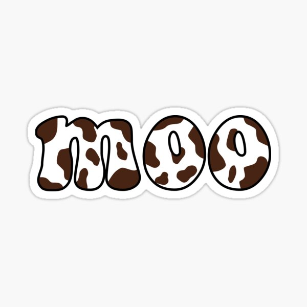 Chocolate Cow Print Moo Sticker By Bluandco Redbubble