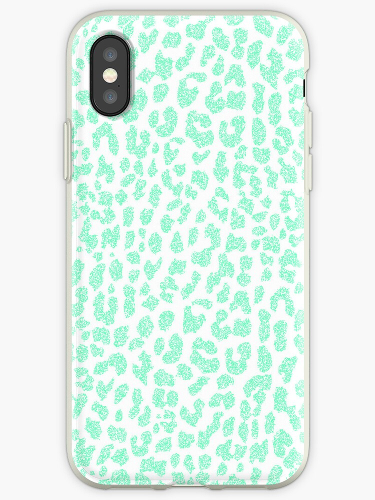 Pale Mint Leopard by Mango Tangerine Studio