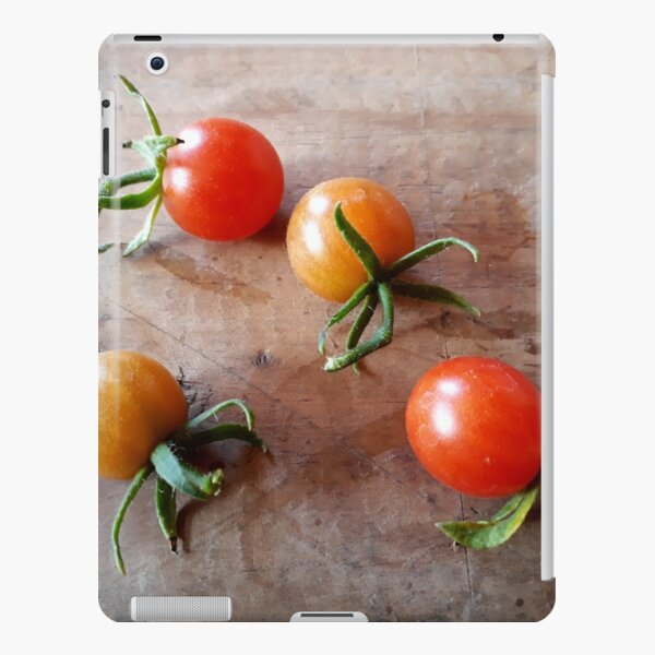 Cocktail Tomatoes on Wood Background iPad Snap Case
