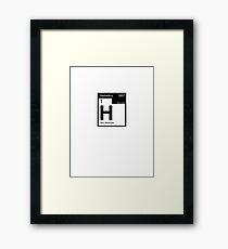 Helvetica Periodic Logo 2 (in black) Framed Print