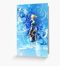 Kingdom Hearts Poster Greeting Card