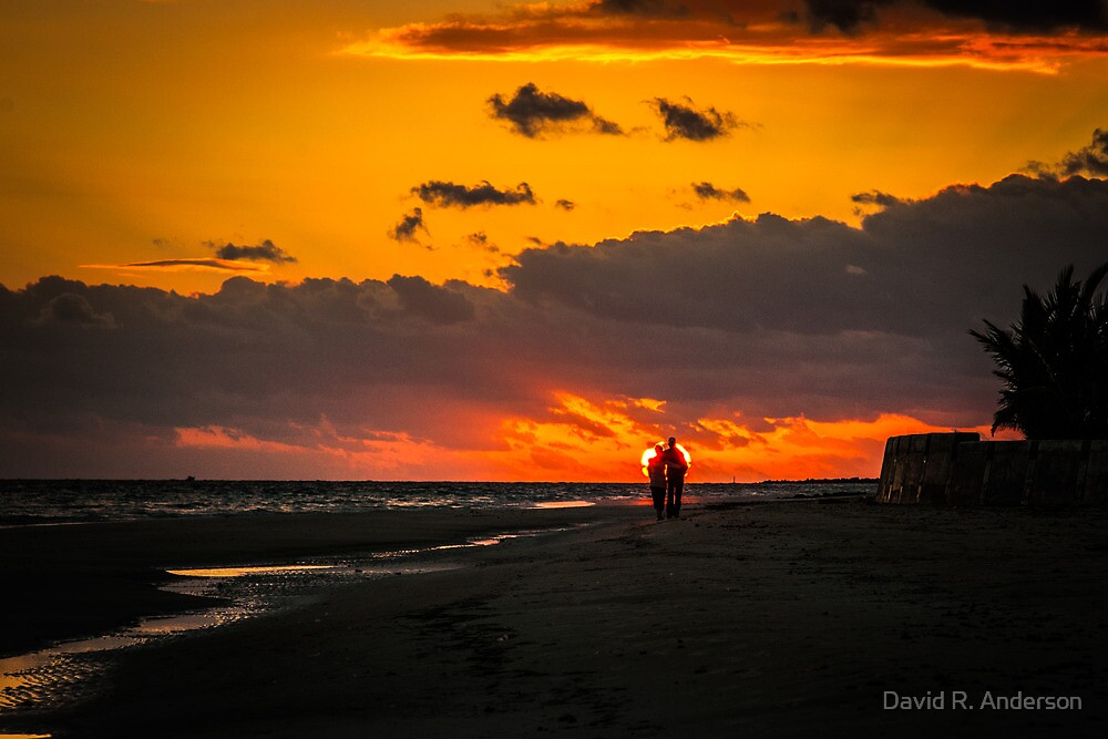 Sunset lovers by David R. Anderson