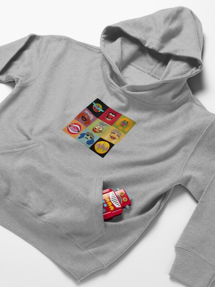 Alternate view of Dr. Teeth and the Electric Mayhem ft Lips Kids Pullover Hoodie