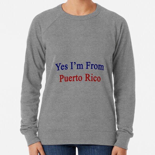Womens Puerto Rico Map Flag and Text Raglan Long Sleeve O-Neck T-Shirts Casual Tops