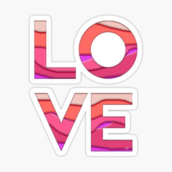 Pink Love (cutout) Sticker