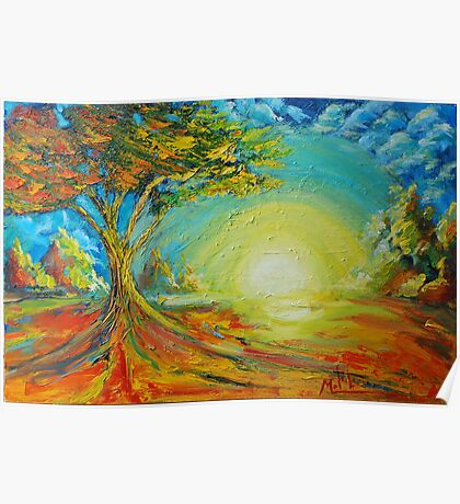 New tree in field of loneliness Poster