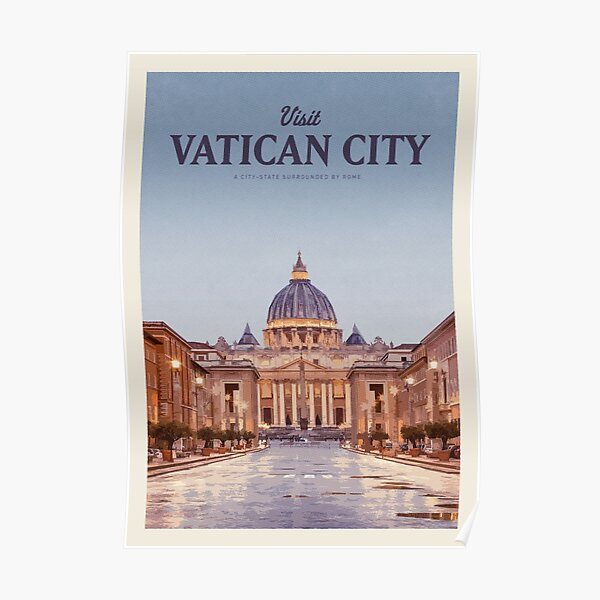 Visit Vatican City Poster