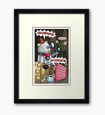 Dalek Party Framed Print