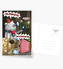 Dalek Party Postcards