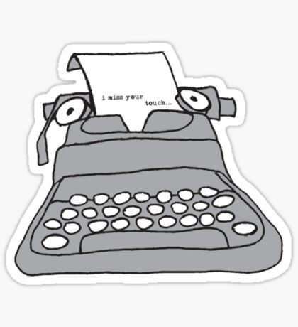 Lonely Typewriter Sticker