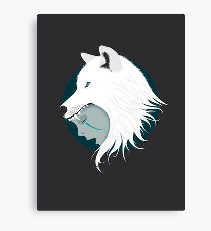 Boy Cries Wolf (White) Canvas Print
