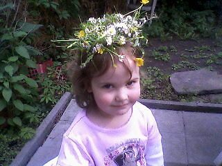 A summer princess and her flower crown by Heidi Mooney-Hill