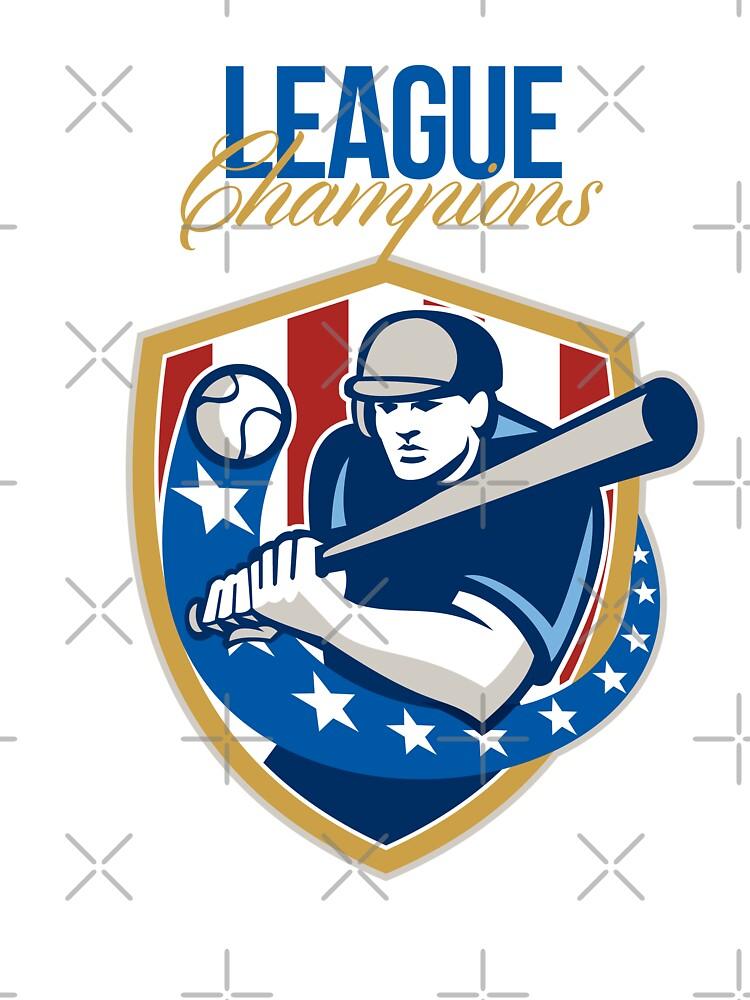 Baseball League Champions Retro by patrimonio