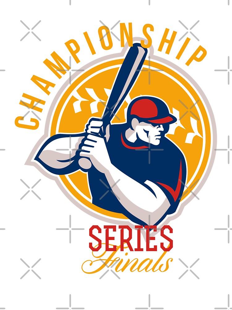 Championship Baseball Series Finals Retro by patrimonio