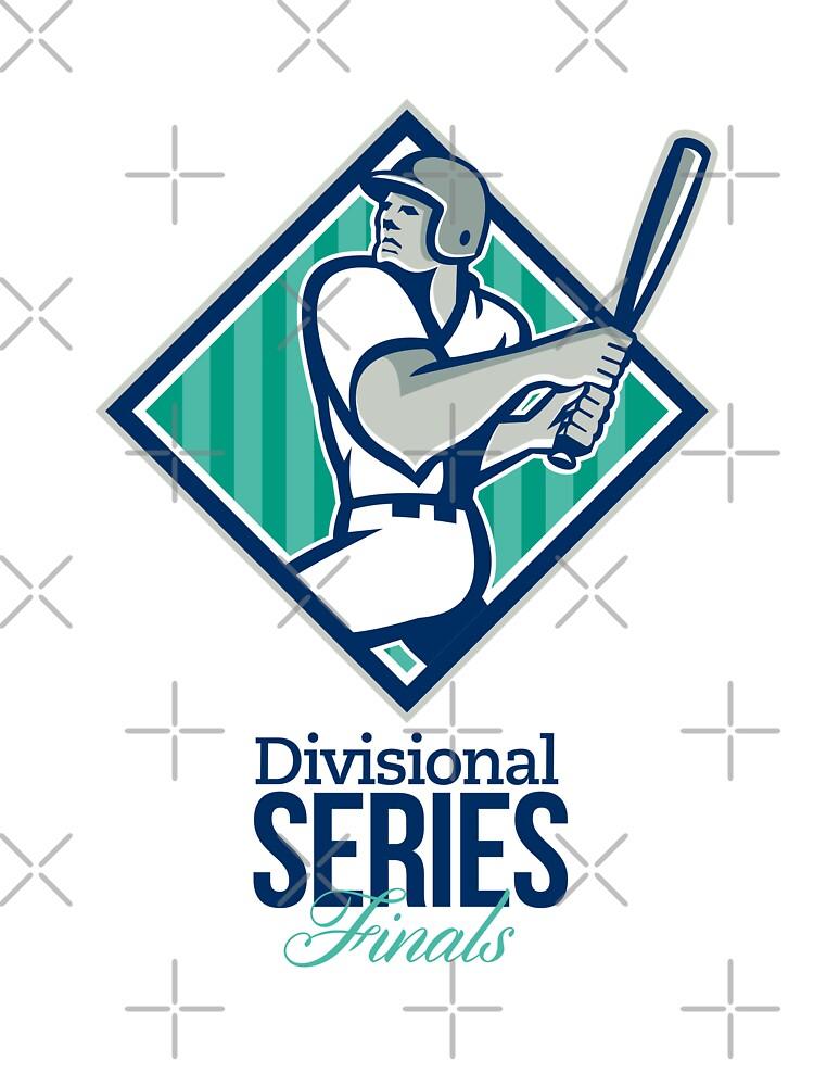 Divisional Baseball Series Finals Retro by patrimonio