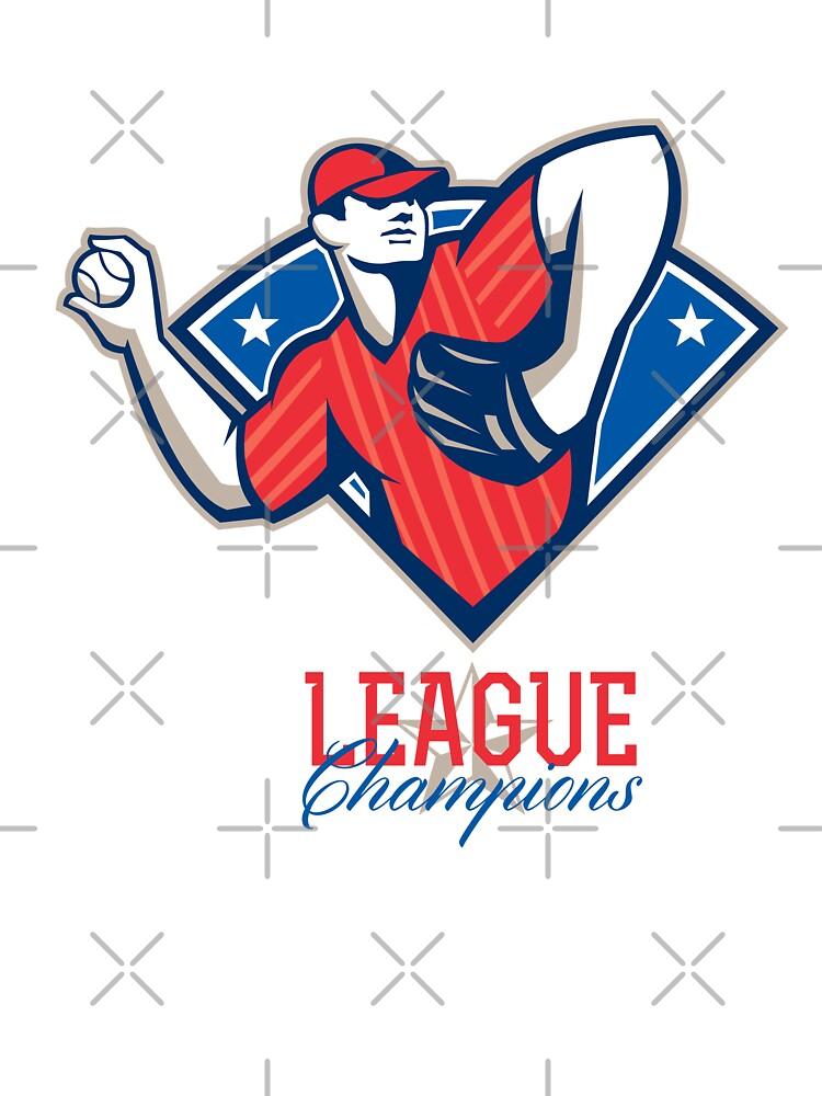 League Champions Baseball Retro by patrimonio