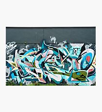 Abstract Graffiti detail on the textured textured wall Photographic Print
