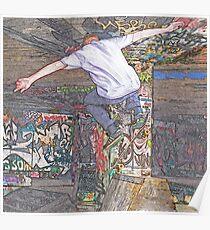 Free man - skate sketch Poster