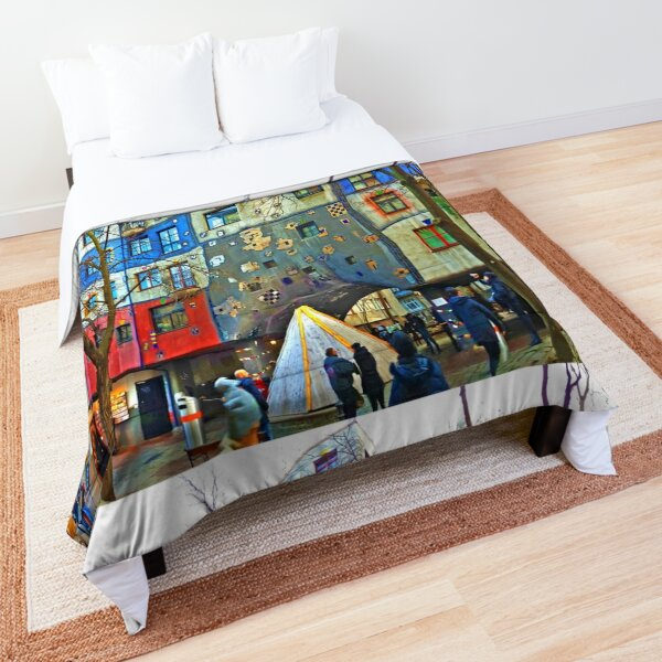 Hundertwasser House Vienna Comforter