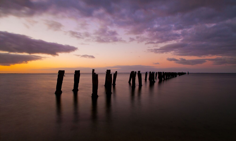 Clifton Springs Sunset by Danielle  Miner