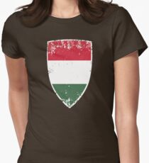 Flag of Hungary Womens Fitted T-Shirt