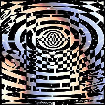 Gemini maze fire sky by samantha22mcken
