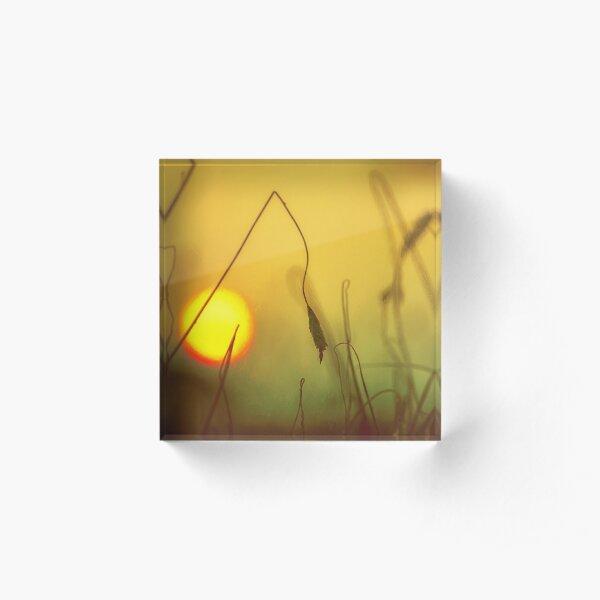 Golden Sunset Acrylic Block