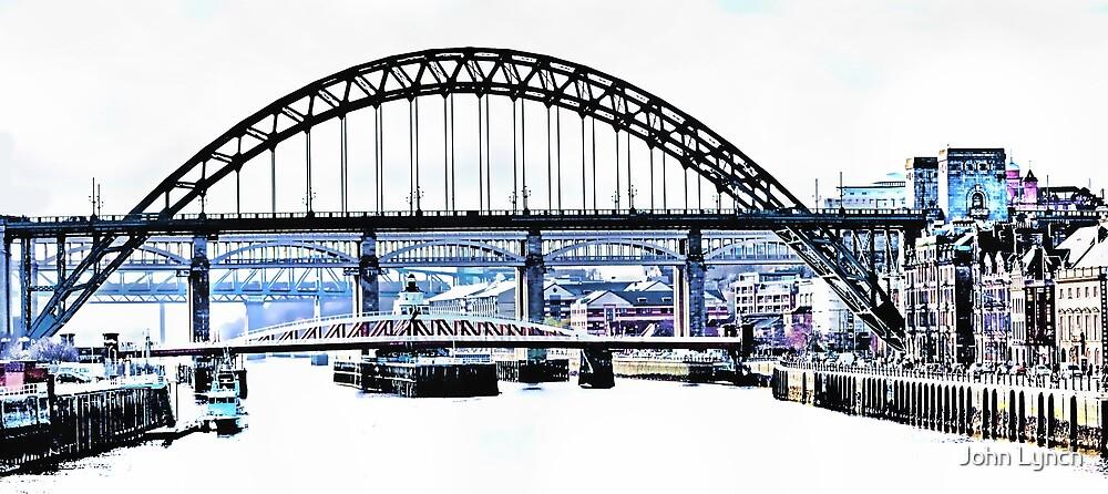4 Bridges over the Tyne by John Lynch
