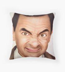 Mr. Bean Throw Pillow