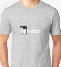 Helvetica Periodic Logo 1 (in black and white) Unisex T-Shirt