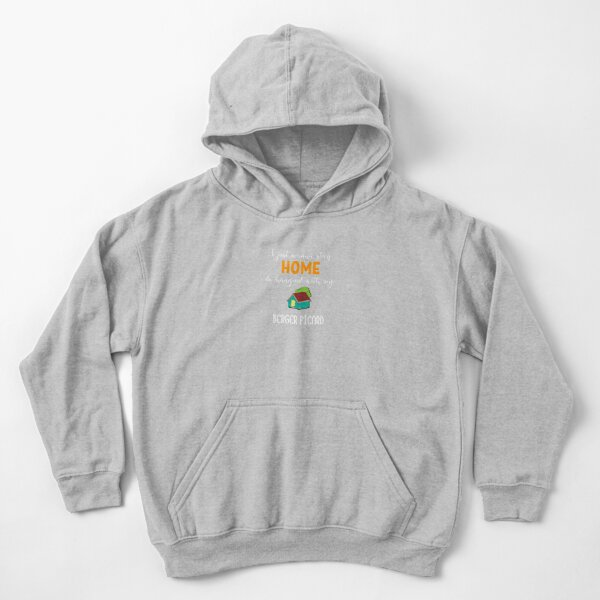 I Just Wanna Stay Home And Hang Out With My Berger Picard - Berger Picard Gift Idea Kids Pullover Hoodie