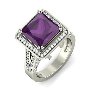 Amethyst White Gold Ring by markstill001