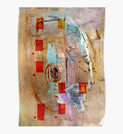 abstract in beige Poster