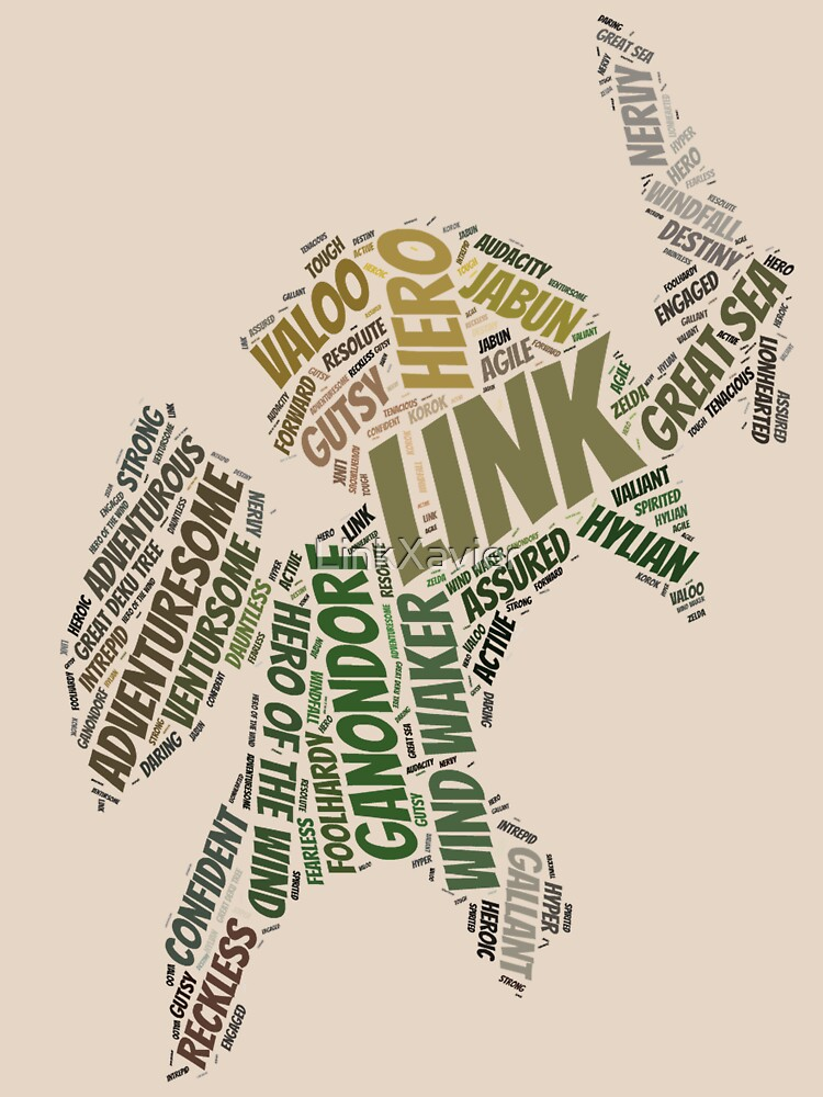 Wordle Toon Link 2 by LinkXavier