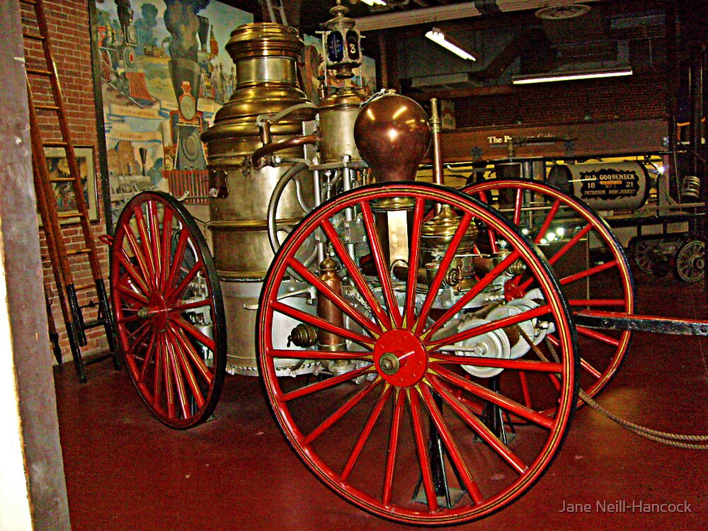 Antique Fire Wagon, Paterson Museum by Jane Neill-Hancock