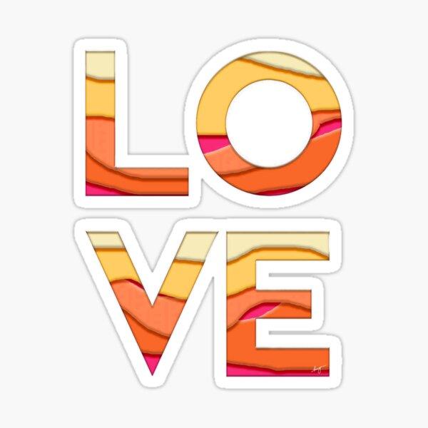 Orange Love (cutout) Sticker