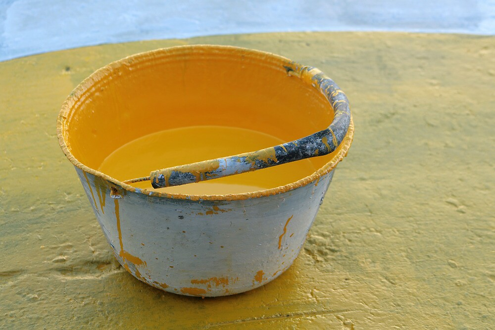Yellow Paint Bucket by rhamm