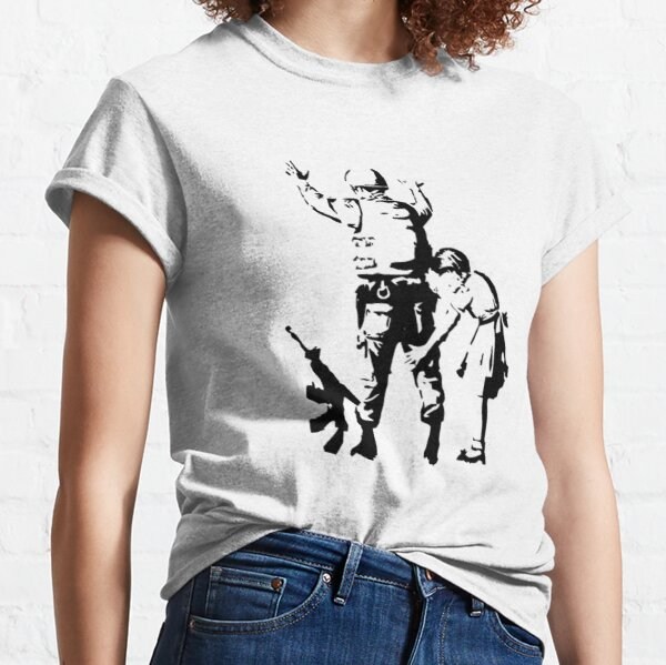 Banksy Searching a Soldier Classic T-Shirt