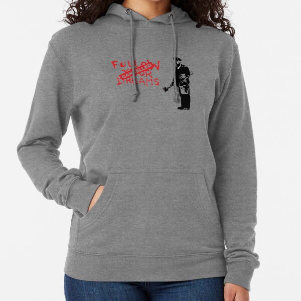 Banksy Follow Your Dreams Cancelled Lightweight Hoodie