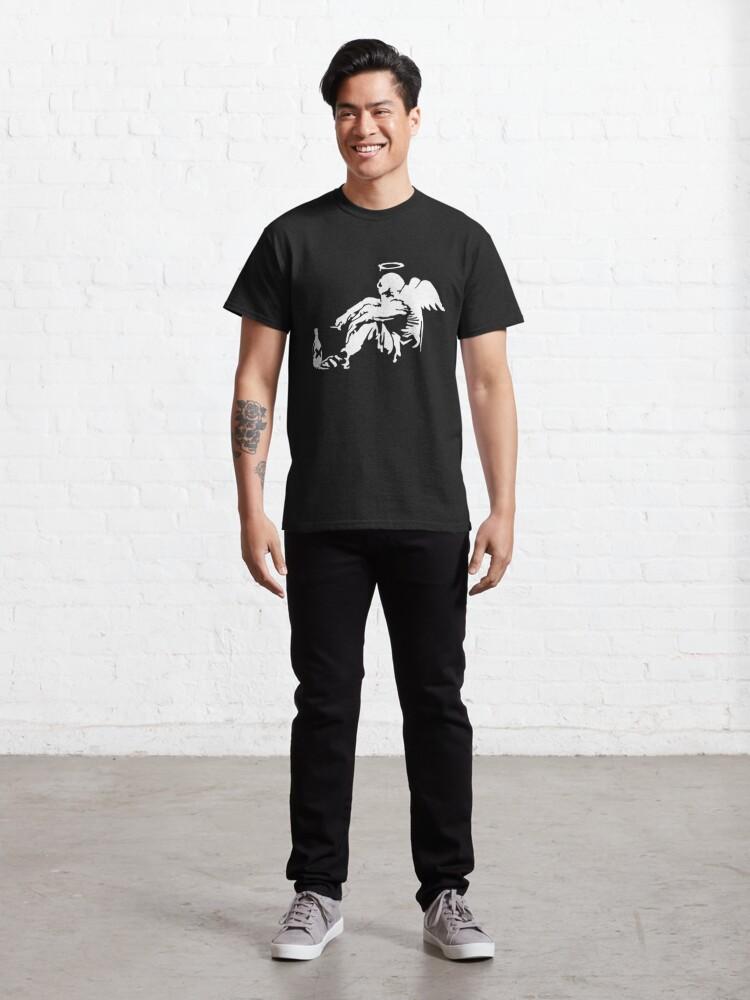 Alternate view of Banksy Fallen Angel Classic T-Shirt