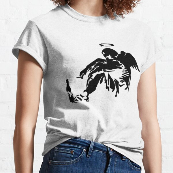 Banksy Fallen Angel  Classic T-Shirt