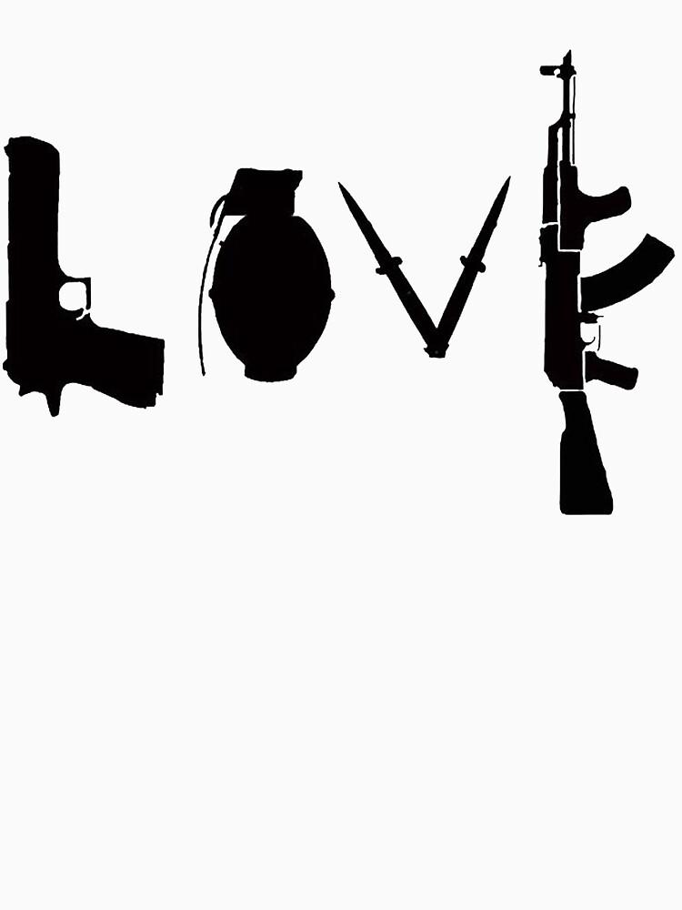 Banksy Love Guns by ThatMerchStore